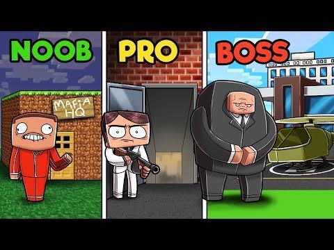Minecraft - MAFIA HEADQUARTERS! (NOOB vs PRO vs BOSS)