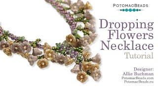 Dropping Flowers Necklace- DIY Jewelry Making Tutorial By PotomacBeads