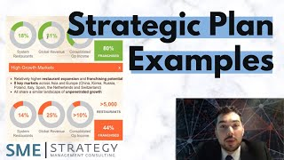 Strategic Plan Examples- Overview of Several Strategic Plans