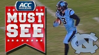 UNC's Ryan Switzer Ties NCAA Record With Punt Return TD   ACC Must See Moment