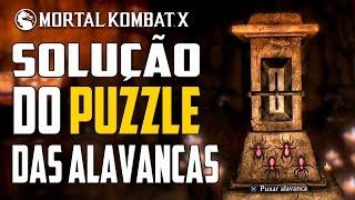 Mortal Kombat X - KRIPTA : Solução do PUZZLE  das Alavancas ( Brutality + Espada do Kotal Khan  )