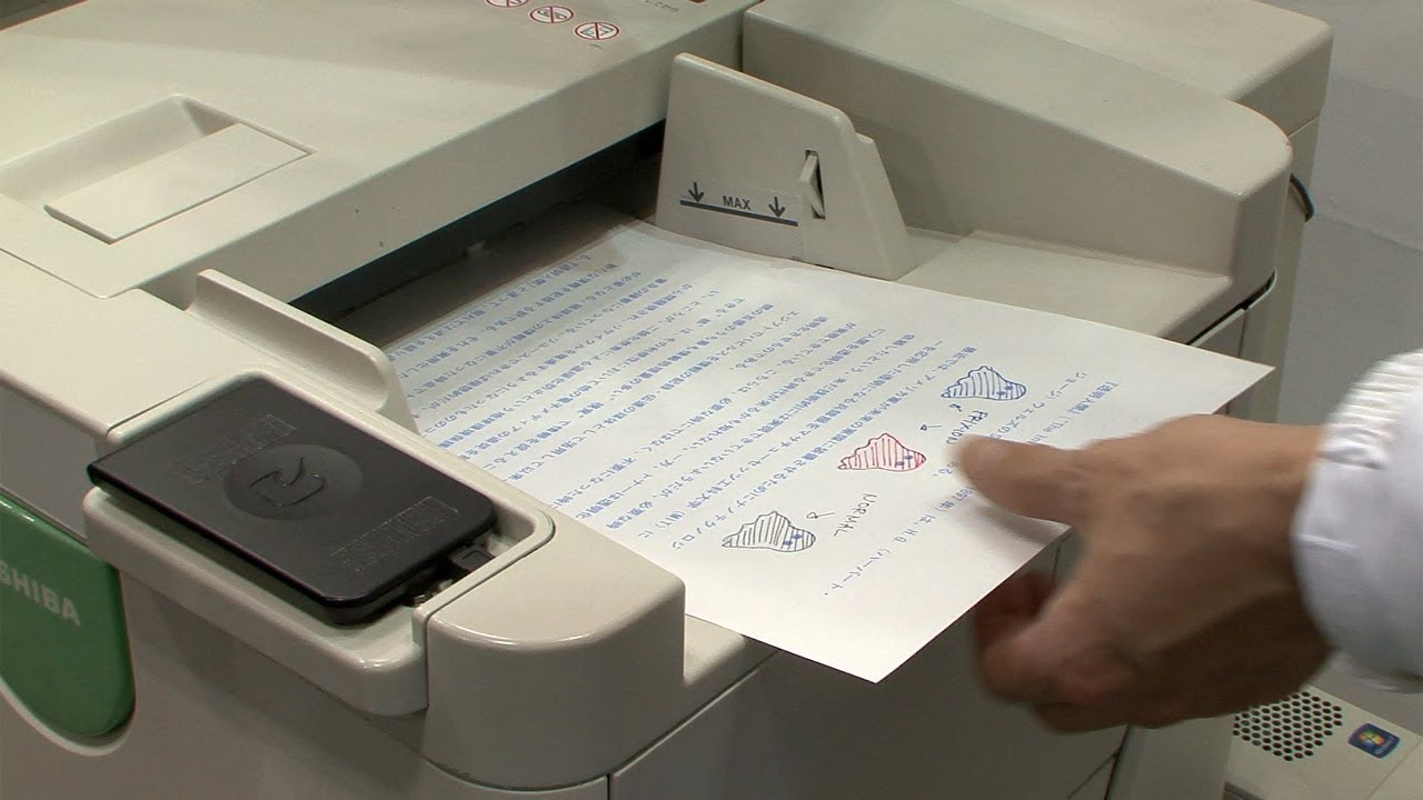 Disappearing Toner Lets Copier Re-Use Paper
