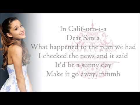 Ariana Grande - Snow In California (with Lyrics)
