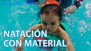 Aprendizaje y dominio del agua. Con material de natación