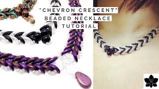 Chevron Crescent Beaded Necklace Tutorial | Beads And Jewelry Making
