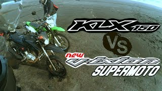 TEST RIDE KAWASAKI KLX 150 VS VIXION SUPERMOTO