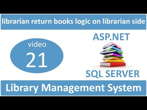 librarian return books logic on librarian side in asp.net lms