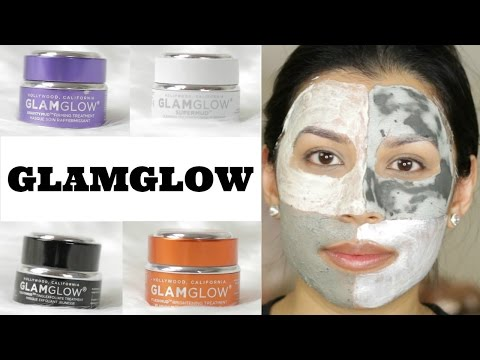 GlamGlow Treatments | Review & Demo | 4 Masks!