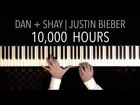 Dan + Shay, Justin Bieber - 10,000 Hours | PIANO COVER (with Lyrics)
