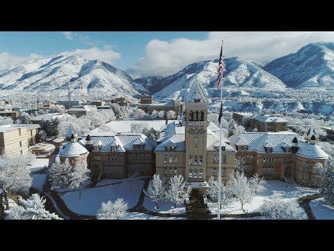 USU Campus in Winter