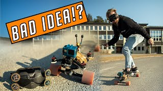Electric Skateboard With DJI FPV Goggles? // 1000 SUBS Special