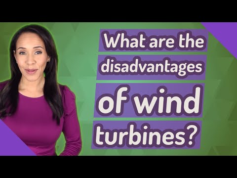 What are the disadvantages of wind turbines?