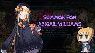 Abigail Williams  - (Fate/Grand Order) - Fate/Grand Order NA - Summon For Abigail Williams