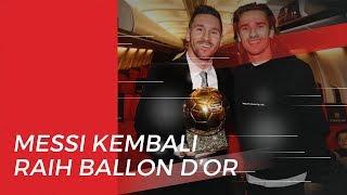 Raih Ballon d'Or Lagi, Lionel Messi Kembali Ukir Rekor