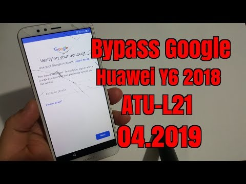 HUAWEI Y6 2018 : Bypass Google Account without computer - Видео