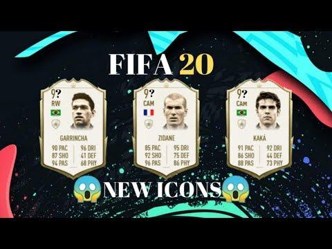 FIFA 20 | ALL NEW ICONS | KAKÁ, ZIDANE,GARRINCHA...