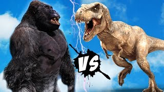 KING KONG VS T-Rex - EPIC BATTLE