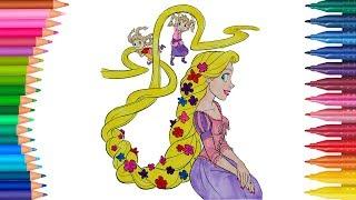 Parmak Prensesler çizgi Film Karakteri Boyama Sayfası Minik