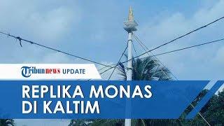 Ibu Kota Akan Pindah ke Kaltim, Warga Tugu Ramping Kutai Kartanegara Bangun Replika Tugu Monas