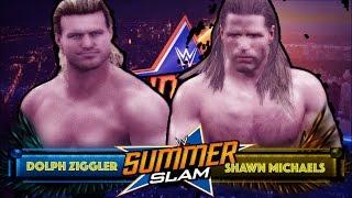 WWE 2K: Shawn Michaels vs Dolph Ziggler - Summerslam (Custom Promo & Match)