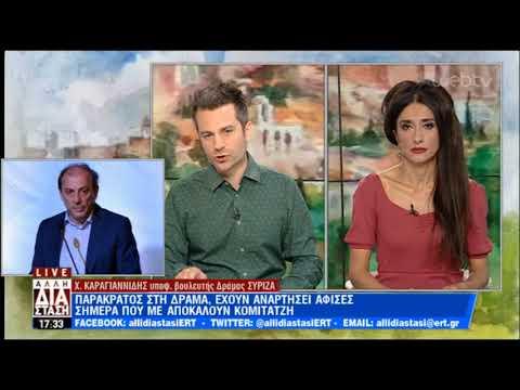 Δέκτης απειλητικών μηνυμάτων ο Χρήστος Καραγιαννίδης   05/07/2019   ΕΡΤ