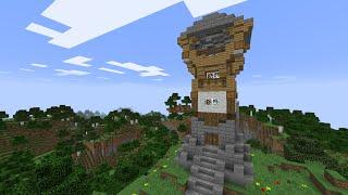Красивая смотровая башня в майнкрафт за 20 минут - Minecraft - Майнкрафт карта
