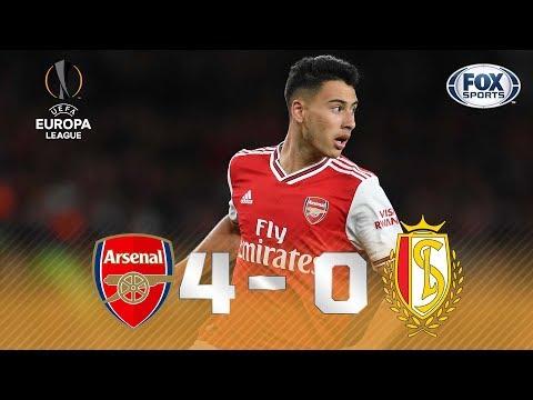 SHOW BRASILEIRO EM LONDRES! Veja o chocolate do Arsenal para cima dos belgas na Europa League