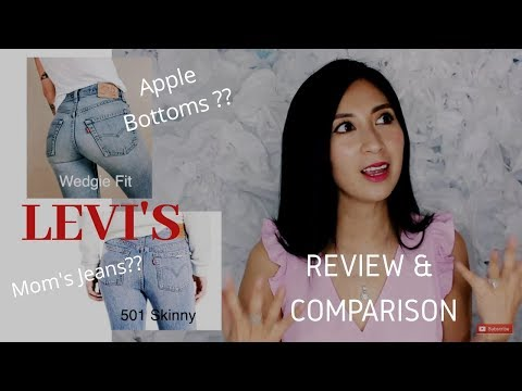 LEVI'S WEDGIE FIT Vs. 501 Skinny Selvedge Jeans Review & Comparison | Alexa Style Book