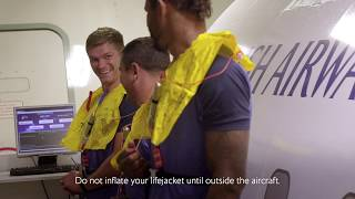 British Airways - Onboard Safety Meets England Rugby