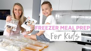 CHEAP AND EASY FREEZER MEAL PREP FOR KIDS | HEALTHY ON A BUDGET