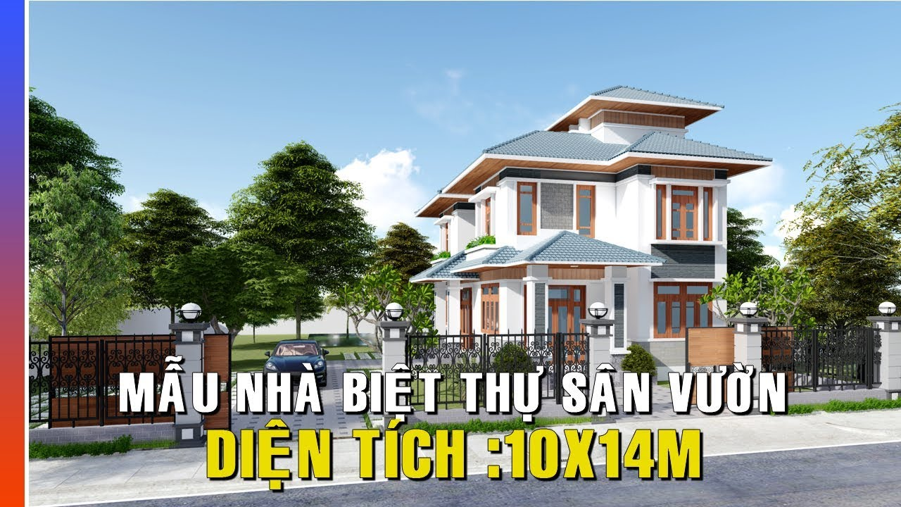 Mẫu thiết kế Biệt Thự Vườn Tân Cổ Điển | Diện tích Xd 10*14m
