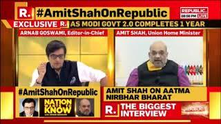 HM Shri Amit Shah's interview with Arnab Goswami on Republic TV