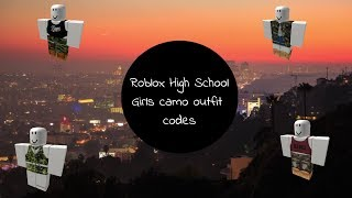 Roblox High School - 10 Camo Outfit Codes!
