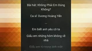 Không Phải Em Đúng Không | Lyrics - Dương Hoàng Yến