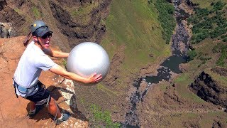 Download Youtube: Exercise Ball Magnus Effect from 200m!!