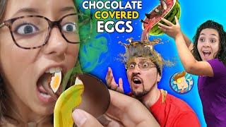 WATERMELON SOUP & CHOCOLATE EGGS PRANK (FV Family Gone Wrong Vlog)