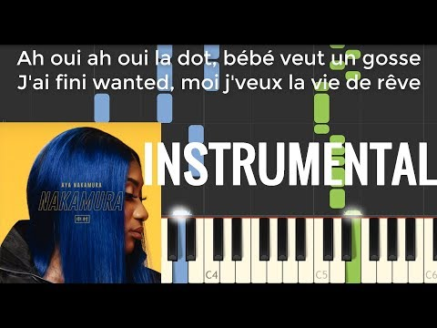 La Dot - Aya Nakamura Cover Instrumental Karaoke Piano + Partition