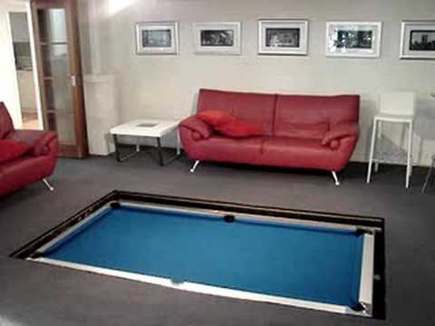 Disappearing Pool Table Adds Secret Agent Awesomeness To Your Game Room