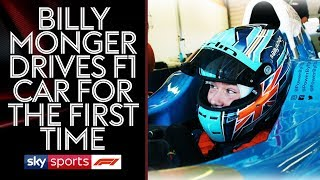 Billy Monger drives an F1 car for the first time!