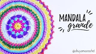 Como Tejer Un MANDALA GRANDE A Crochet   AHUYAMA CROCHET