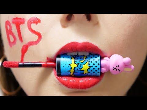 Разоблачаем корейца! Тест косметики НА ВКУС! Вторая посылка от k-рор группы BTS 🐞 Afinka