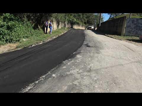 Pavimentação asfáltica na Rua dos Camirangas no distrito dos Barnabés