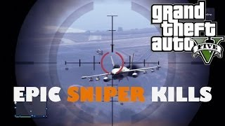 "Grand Theft Auto 5 Online Sniper Montage ""Part 1"" (No scope, Quick scope, Drag scope)"