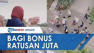 Viral Video Hujan Uang di Malang, Ternyata Wanita Bagi-bagi Bonus Karyawan Ratusan Juta dari Balkon