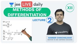 Methods of Differentiation - Lecture 2 | Unacademy JEE | LIVE DAILY | IIT JEE Maths | Sameer Sir  IMAGES, GIF, ANIMATED GIF, WALLPAPER, STICKER FOR WHATSAPP & FACEBOOK