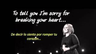 Adele - Hello (lyrics and Spanish translation/letra y traducida al español)