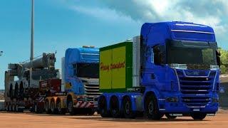 [1.30] Euro Truck Simulator 2 | Scania R Heavy Haul Convoy Mod | Mods