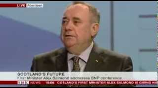 April 2014 - Scotland's Future Alex Salmond...