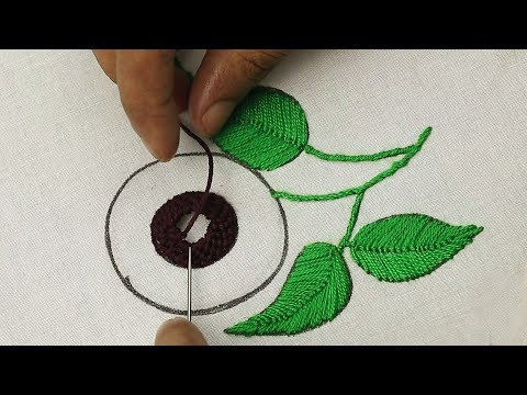 hand embroidery: sunflower embroidery designs with inverted buttonhole stitch