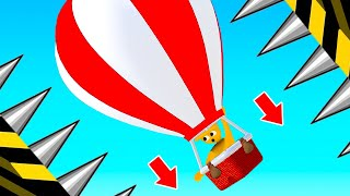 *IMPOSSIBLE* Hot Air Balloon Course! (Human Fall Flat)